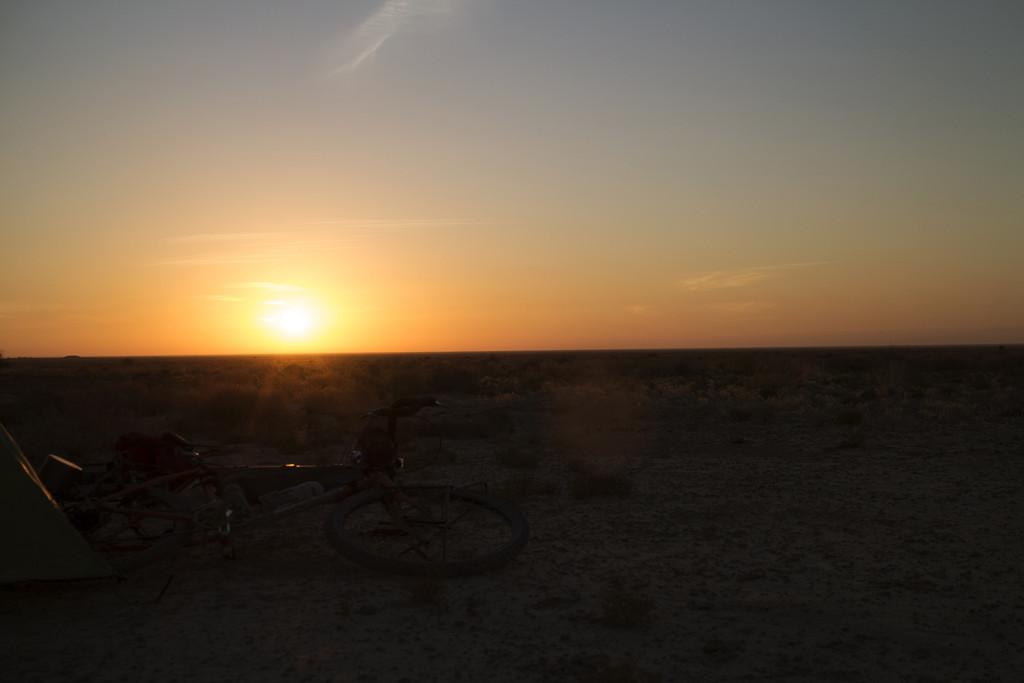The first bit of Uzbek camping.