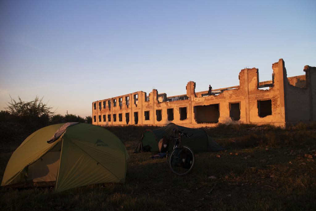 The huge derelict building