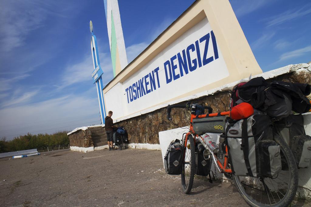 The Uzbeks love a big sign.