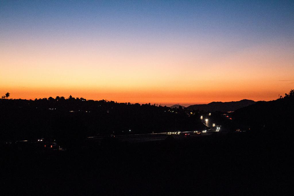 Inland sunsets
