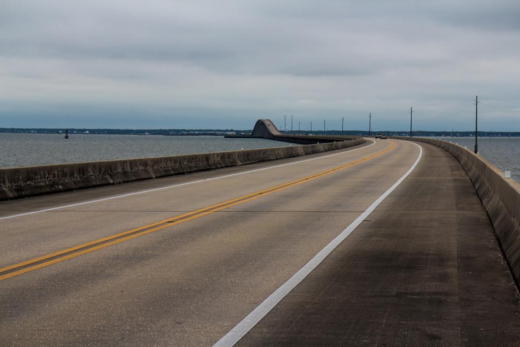 The bridge to Dauphin Island.